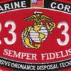 2336 Explosive Ordnance Disposal Technician MOS Patch | Center Detail