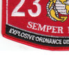 2336 Explosive Ordnance Disposal Technician MOS Patch | Lower Left Quadrant