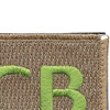 22nd Training Squadron ECB Green Patch Hook And Loop | Upper Right Quadrant