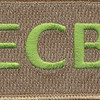 22nd Training Squadron ECB Green Patch Hook And Loop | Center Detail