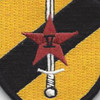 22nd SERE Training Squadron Sword And Star Patch Hook And Loop | Center Detail