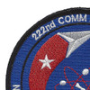 222nd Communication Maintenance Flight Patch | Upper Left Quadrant