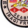 21st Mobile Construction Battalion OIF Patch | Lower Left Quadrant