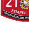 2131 Towed Artillery Systems Technician MOS Patch | Lower Left Quadrant