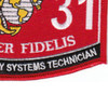 2131 Towed Artillery Systems Technician MOS Patch | Lower Right Quadrant