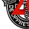 20th Special Forces Group Crest Red 20 Patch | Lower Left Quadrant
