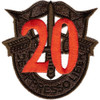 20th Special Forces Group Crest OD Green Red 20 Patch