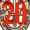20th Special Forces Group Crest Desert Red 20 Patch | Center Detail