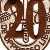 20th Special Forces Group Crest Desert Brown 20 Patch | Center Detail