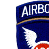 188th Airborne Infantry Regiment Patch - Version D | Upper Left Quadrant