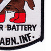 187th RCT Red Legs Mortar Batter Patch y   Lower Right Quadrant