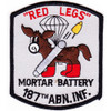 187th RCT Red Legs Mortar Batter Patch y