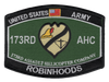 173rd Aviation Assault Helicopter Company Patch - Robin Hoods