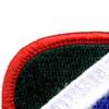 172nd Infantry Regiment Oval Patch   Upper Left Quadrant