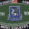 160th Special Operations Aviation Regiment MOS Rating Patch Night Salkers | Center Detail
