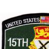 15th Cavalry Regiment MOS Patch 1957-1967 | Upper Left Quadrant