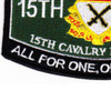 15th Cavalry Regiment MOS Patch 1957-1967   Lower Left Quadrant