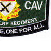15th Cavalry Regiment MOS Patch 1957-1967 | Lower Right Quadrant