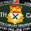 15th Cavalry Regiment MOS Patch 1957-1967   Center Detail