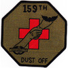 159th Medical Detachment Air Ambulance Patch Dustoff OD