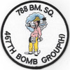 788th Bombardment Squadron 467th Bomb Group Patch