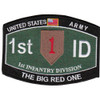 "1st Infantry Division Ratings Patch ""The Big Red One"""