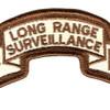 1st Infantry Division Long Range Scroll Desert Patch | Center Detail