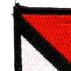 1st Cavalry Volunteers Non Airborne Red & White Beret Flash Patch   Upper Left Quadrant