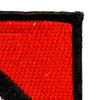 1st Cavalry Volunteers Non Airborne Red & White Beret Flash Patch | Upper Right Quadrant