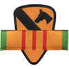 1st Cavalry Division Vietnam Service Ribbon Patch