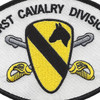 1st Cavalry Division Small Version Patch | Center Detail