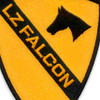 1st Cavalry Division Patch Ia Drang 1965 Lz Falcon Vietnam | Center Detail