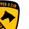 1st Cavalry Division Patch - Angry Skipper D 2/8 Vietnam | Upper Right Quadrant