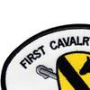 1st Cavalry Division Patch | Upper Left Quadrant