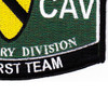 1st Cavalry Division Military Occupational Specialty Rating MOS Patch | Lower Right Quadrant