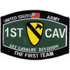 1st Cavalry Division Military Occupational Specialty Rating MOS Patch