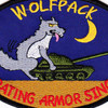 1st Battalion Reconnaissance 82nd Aviation Regiment Wolfpack Patch | Center Detail