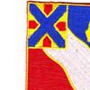 156th Field Artillery Regiment Patch | Upper Left Quadrant