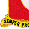 156th Field Artillery Regiment Patch | Lower Left Quadrant