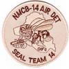 14th Mobile Construction Battalion Air Det Seal Team 14 Patch