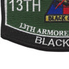 13Th Armored Division Military Occupational Specialty MOS Patch   Lower Left Quadrant