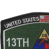 13Th Armored Division Military Occupational Specialty MOS Patch | Upper Left Quadrant