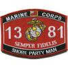 1381 Shore Party Man MOS Patch