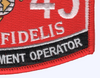 1345 Engineer Equipment Operator MOS Patch | Lower Right Quadrant