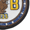 133rd Mobile Construction Battalion Patch Kan Groo Cb | Lower Right Quadrant