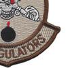 132nd Aviation Cavalry Regiment Delta Company Patch Desert | Lower Right Quadrant
