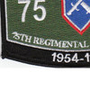 75th Regimental Combat Team Military Occupational Specialty MOS Rating Patch 1954-1956   Lower Left Quadrant