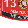 1316 Metal Worker MOS Patch | Lower Left Quadrant