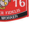 1316 Metal Worker MOS Patch   Lower Right Quadrant