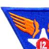 12th Air Force Shoulder Patch | Upper Left Quadrant